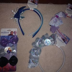 Disney Frozen II Hair Accessory Lot - 9 Pieces